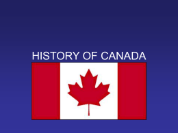 HISTORY OF CANADA - Virtuelle Seminare in der …