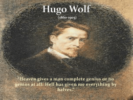 Hugo Wolf - nebrwesleyan.edu