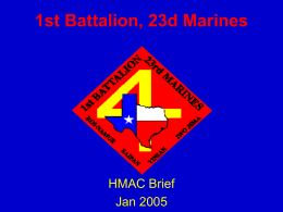 1st Battalion, 23d Marines - Houston Military Affairs