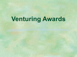 Venturing Awards - U.S. Scouting Service Project
