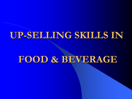 UP-SELLING SKILLS IN FOOD & BEVERAGE