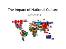 The Impact of National Culture