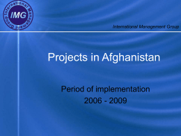 Projects Afghanistan