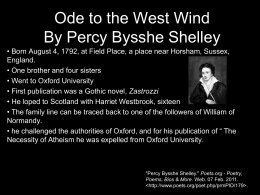 Ode to the West Wind By Percy Bysshe Shelley