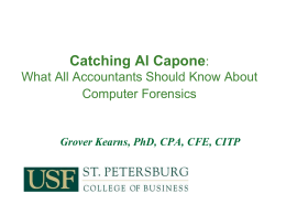 Information Technology Forensic Techniques for Auditors