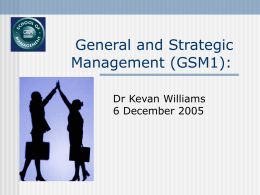 General and Strategic Management II