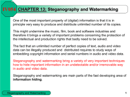 CHAPTER 13 - Steganography and Watermarking