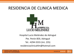 RESIDENCIA DE CLINICA MEDICA