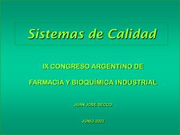 SISTEMAS DE CALIDAD - Menzaghi Pharma S.A.