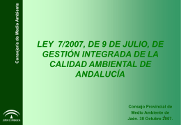 Ley GICA de Gestion Integrada de Calidad Ambiental