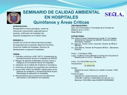 SEMINARIO DE CALIDAD AMBIENTAL EN HOSPITALES …