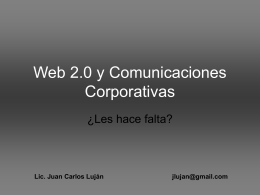 Web 2.0 y Comunicaciones Corporativas