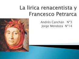 La lirica renacentista y Francesco Petrarca