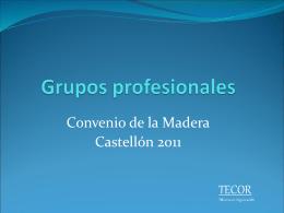 Grupos profesionales