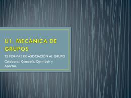 U1. MECANICA DE GRUPOS