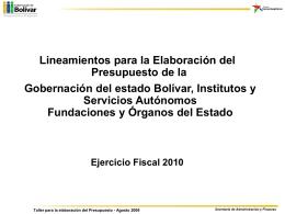 Diapositiva 1 - Intranet Ejecutivo del Estado Bolivar