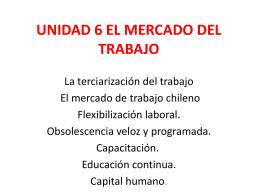 UNIDAD 6 EL MERCADO DEL TRABAJO