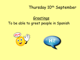 Thursday 10th September