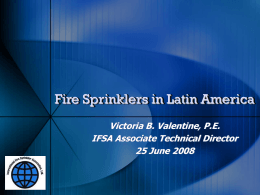 Fire Sprinklers in Latin America
