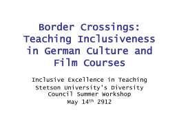Border Crossings: Teaching Inclusiveness in German …