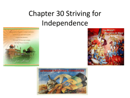 Chapter 30 Striving for Independence