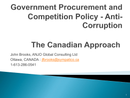 Government Procurement and Competition Policy