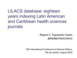 LILACS database: eighteen years indexing Latin American