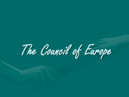 The flag of Council of Europe