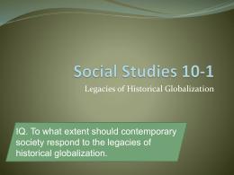 Social Studies 10-1
