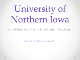 University of Northern Iowa - St. Cloud State University