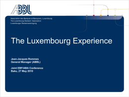 Future of the Luxembourg Financial Centre