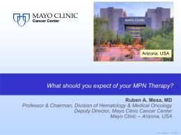 Overview of Mayo Clinic Cancer Center