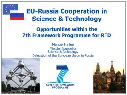 EU-Russia FP7 info days 2012