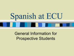 Spanish at ECU