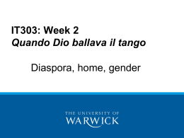 Diaspora and Gender in Laura Pariani's Quando Dio ballava