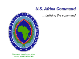 AFRICOM 301/401 Brief (13 Nov 07)