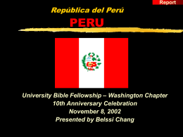 Peru - Washington University Bible Fellowship