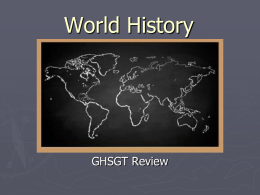 World History - Henry County School District