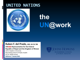 United Nations - Johns Hopkins Bloomberg School of …