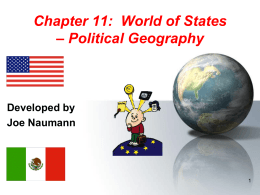Section 11: A World of States – Political Geography