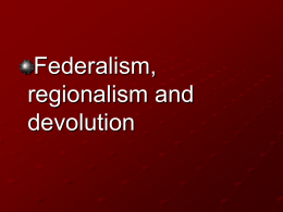 Federations and Unitary States
