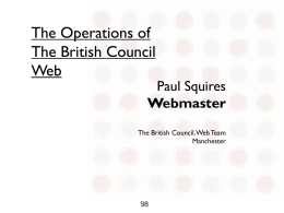 The Operations of BC Web