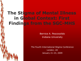 The Stigma of Mental Illness in Global Context: First