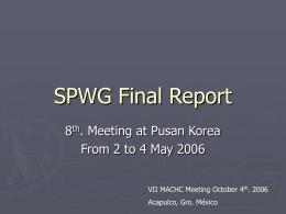 SPWG Final Report