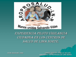 Vigilancia Lima Norte AROPROSALUD Alternativa