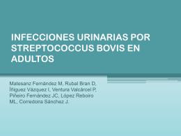 INFECCIONES URINARIAS POR STREPTOCOCCUS BOVIS …