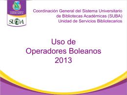 Operadores Boleanos - La Voz del Bibliotecario | Espacio