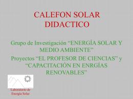CALEFON SOLAR DIDACTICO