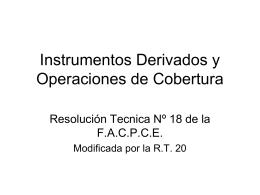 Instrumentos Derivados y Operaciones de Cobertura