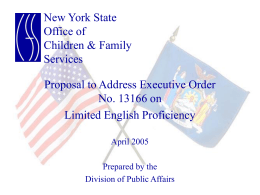 Limited English Proficiency - New York State Office of
